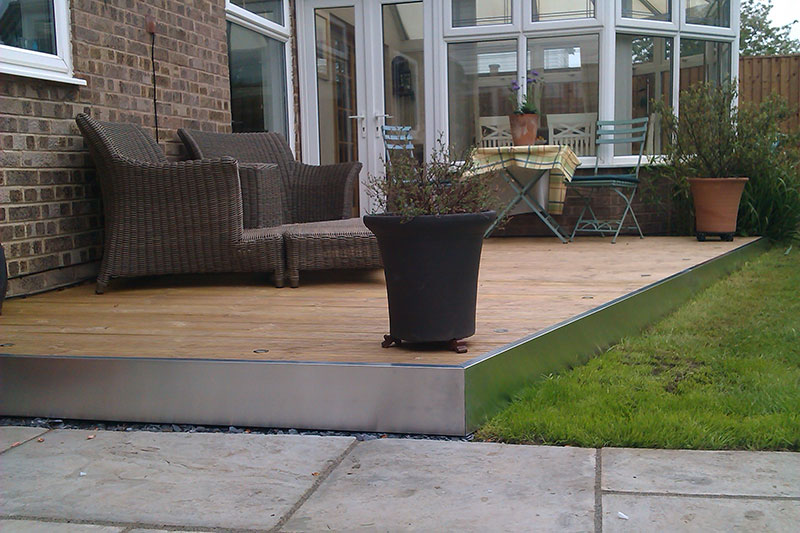 Expertly fitted decking will enhance any outdoor area and complement an existing patio or lawned area.