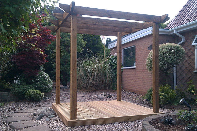 Add interest and a touch of luxury to outdoor spaces with a timber pergola - ideal for climbing vines and a little shade.