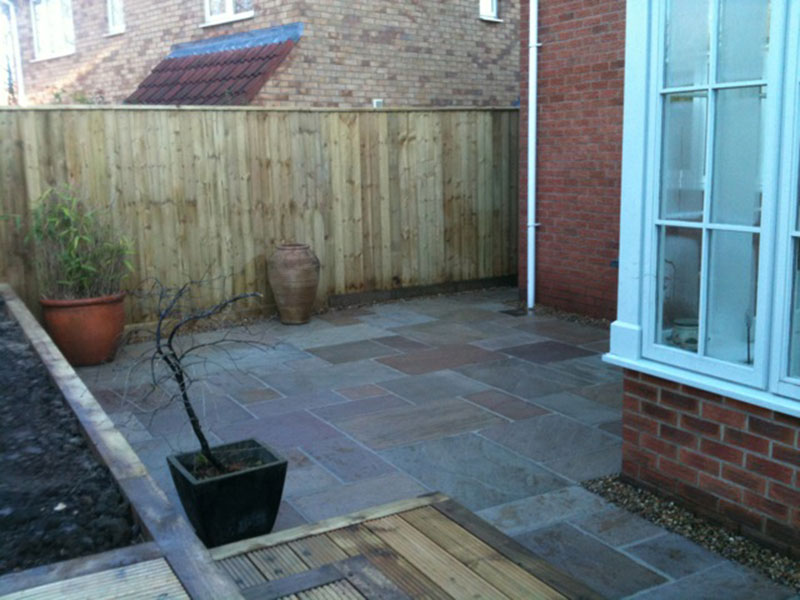 Beautifully laid patio areas to enhance your garden and provide a weed-free and level area in which to enjoy the outdoors.