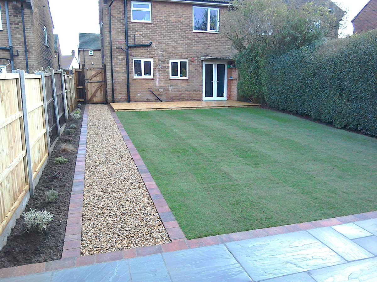 The highest quality turf laid with care and bordered with your choice of edging plants.